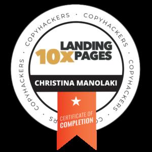 Christina Manolaki Landing Page
